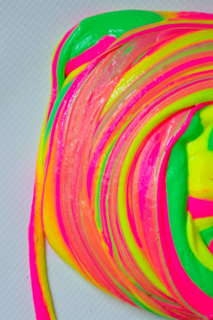 Rainbow Slime in a swirl