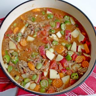 Vegetable soup in dutch oven