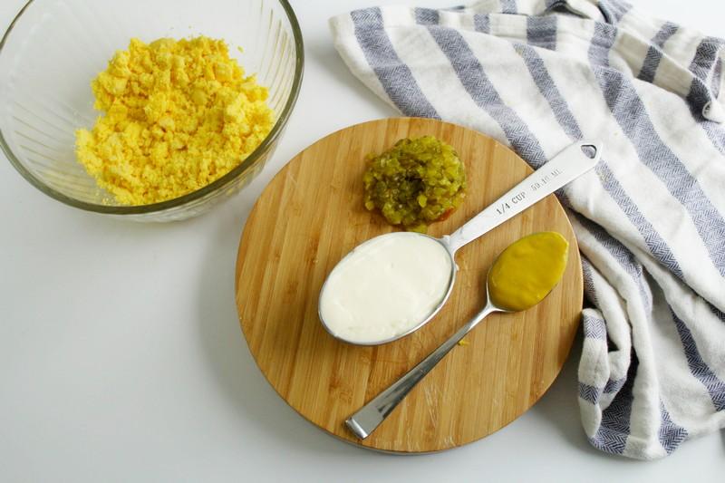 ingredients for deviled eggs