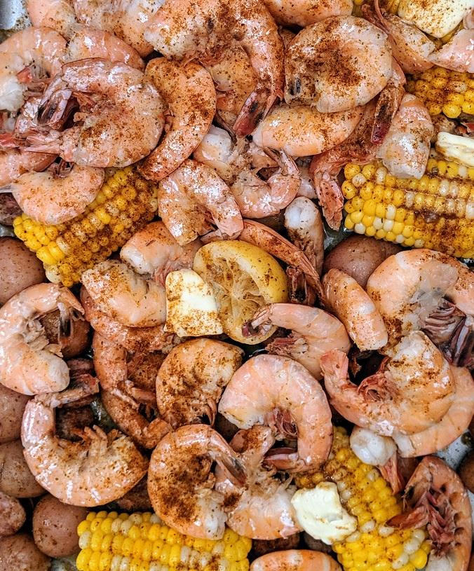 Ingredients for Sheet Pan Shrimp Boil